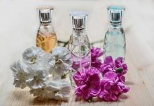three essential oil room spray in glass botless