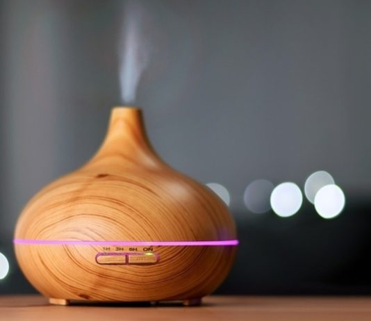 humidifier in the table